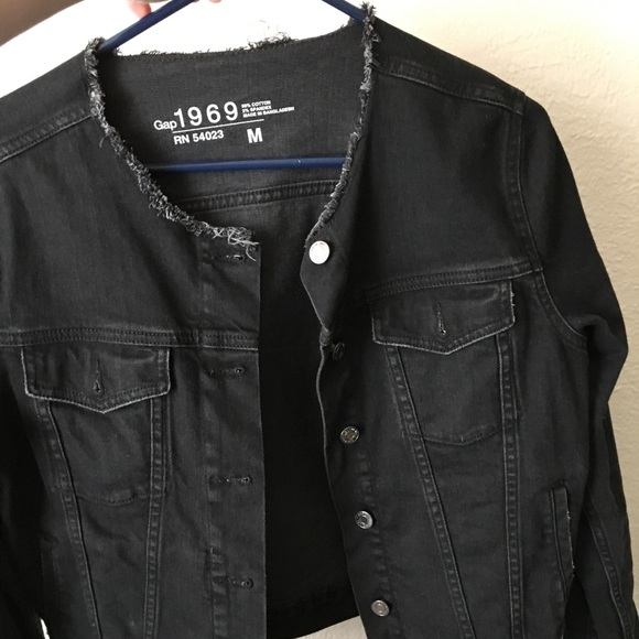 reliable quality compare price competitive price GAP 1969 black Jean jacket